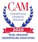 Award reading text: CAM 2020 Credentialed Advanced Mediation